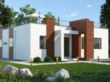 Современный дом Бриз Хаус в с. Витино, ул. Морская, 102 кв.м на земельном  участке 500 кв.м